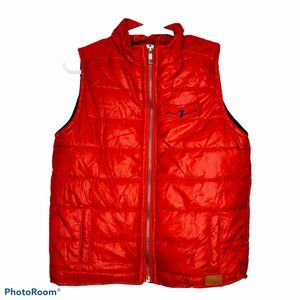 7FAM 4T puffer vest red full zip toddler quilted